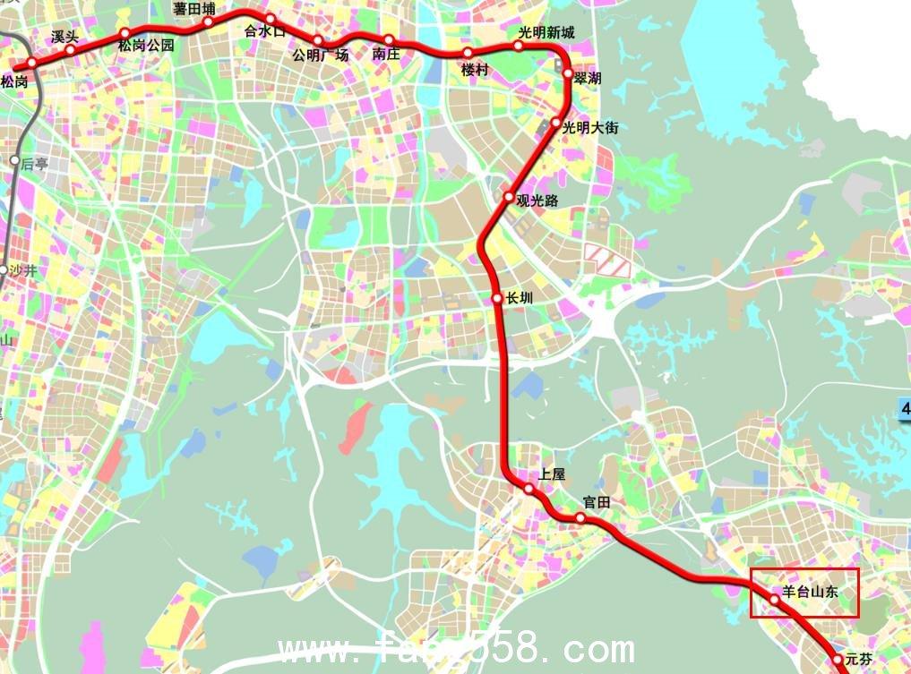 深圳地铁6号线最终站点公布 含一期、南延线