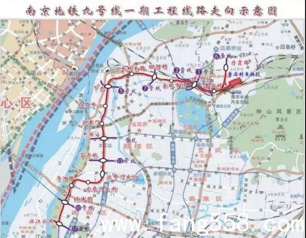 最新!南京地铁9号线一期用地通过审批 来看线路走向
